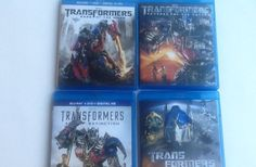 Transformers 1234 Movie Collection Blu Ray Set