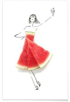 Watermelon - Gretchen Roehrs - Premium Poster