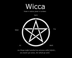 I have been following the Wiccan path for several years.