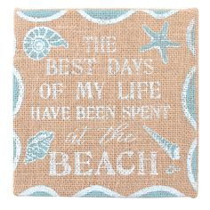 Wholesale Hessian beach plaque - Something Different