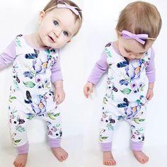 Newborn Infant Baby Girls Kids Cotton Romper Jumpsuit Bodysuit Clothes Outfit https://presentbaby.com