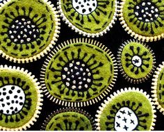 'Working with green' by Odile Gova. Felt  zipper. via woolly fabulous on flickr  I love repetitive patterns but am loathe to do them myself..again, something functional like a headband or cuff