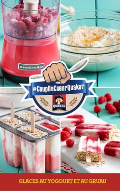 Yogurt pops get the benefit of added oats to add a healthy and filling boost to these frozen treats as part of a complete breakfast. Baby Food Recipes, Snack Recipes, Dessert Recipes, Cooking Recipes, Yummy Eats, Yummy Food, Food Porn, Low Calorie Recipes, Frozen Desserts