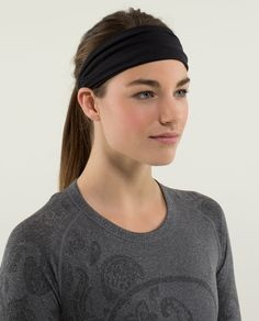 extra wide, reversible headband to help keep our mane - and our sweat - out of the way. Bang on.