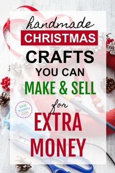Just for some extra cash on the side, I'd love to find some popular Christmas crafts to sell! There are some great ideas here. So glad I found this list! It has 50 unique ideas for crafts to make and sell, all handmade gifts. Diy Christmas Crafts To Sell, Money Making Crafts, Diy Christmas Gifts For Family, Diy Crafts For Kids, Easy Crafts, Crafts To Make And Sell Unique, Christmas Makes To Sell, Holiday Crafts, Holiday Ideas