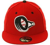The Clink Room 5950 Bowling Green Hot Rods  Fitted Hat - Red