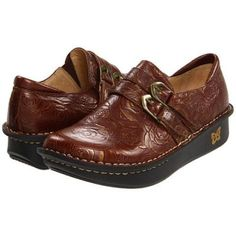 Alegria Alli Professional Women's Clog Shoes - Choco and Gold Rose