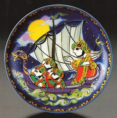 """Sinbad the Sailor"" Motiv 1, Bjorn Wiinblad, Rosenthal (Erdinç Bakla archive)"