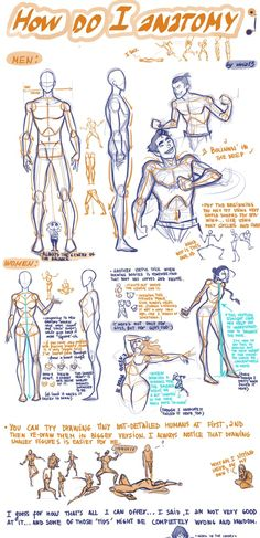 An excellent figure drawing tutorial - human anatomy - how to draw a man - human figure - drawing reference Figure Drawing Tutorial, Figure Drawing Reference, Art Reference Poses, Anatomy Reference, Design Reference, Male Figure Drawing, Figure Drawings, Hand Reference, Drawing Lessons