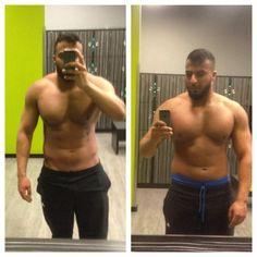 #diet #lowcarb  #health #fitness #transformation #fitnessfood #gym #gymfife #gymfreak #fitnessfreak #möpse 5 Wochen liegen zwischen den 2 Bildern links -6kg... Heute beginnt das Ritual (morgens Cardio) noch 7 Wochen vor mir!! by gainz_store