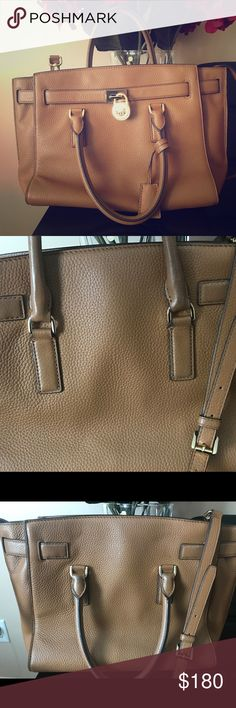 80%OFF!! Michael Kors Handbag/Crossbody Gorgeous Handbag .. looks perfect except for the back of the bag as shown in photos. I'm obsessed with this bag but I have no room for all the purses I have! Michael Kors Bags Crossbody Bags