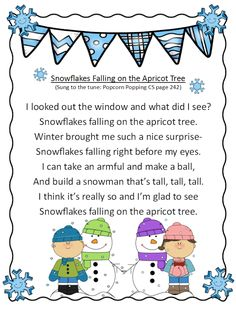I found some fun wiggle songs for winter on Facebook and on the Internet. So I made them up ready to go. The first is to the tune of Popc...