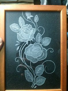 My new work of Glass Engraving
