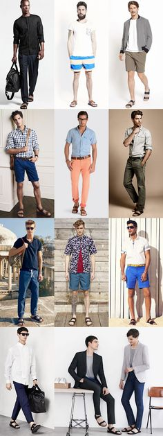 Men's 2014 Spring/Summer Footwear Trend: Sandals - The Two-Strap Lookbook Inspiration