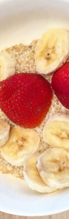 Quinoa Milchreis mit Bananen -