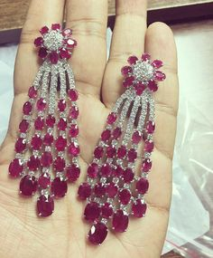 @sdjworldjewels. The classic red and white what do you think? #earring #ruby