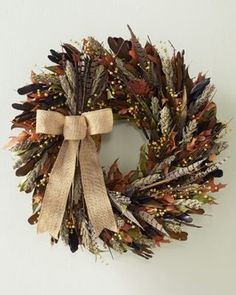 8017472f8c8 Pheasant Hill Wreath traditional holiday decorations Feather Crafts, Feather  Art, Feather Wreath, Feather