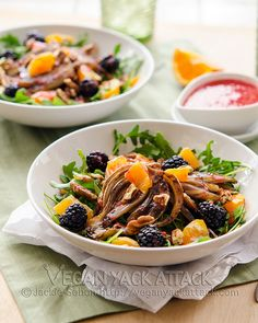 Have we ever mentioned that fennel is one of our absolute fave salad ingredients? Try it in this Roasted Fennel Salad from Vegan Yack Attack.