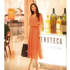bd97e3d00527 TS- Fashion Thigh High Split Vintage Maxi Dress Midi Dresses