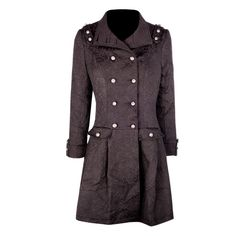 This military designed, double buttoned coat  screams style with the pleating and high collar. It is a great mix of vintage and contemporary style to create a piece that is suitable for every day wear. The amount of detail in this coat makes it great value for money! 30C Machine Wash Cold, Do Not Bleach, Cool Iron