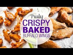 No false promises here! These Oven Baked Buffalo Wings are SERIOUSLY crispy. Tossed in a classic hot sauce for the ultimate buffalo wings! Turkey Recipes, Meat Recipes, Chicken Recipes, Cooking Recipes, Recipies, Baked Buffalo Wings, Buffalo Chicken, Recipe Tin, Recipe Spice