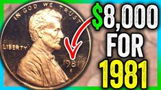 This the 1981 penny worth money and extremely valuable pennies to look for. We look at Lincoln pennies worth money and high graded coins as well. Valuable Pennies, Rare Pennies, Valuable Coins, Penny Values, Rare Coins Worth Money, Coin Dealers, Coin Shop, Coin Worth, Penny Coin