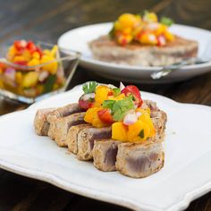 Grilled Tuna Steaks with Mango Salsa