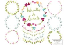 Bohemian Vector Wreaths & Laurels By Amanda Ilkov