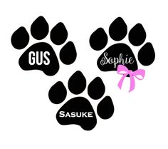 Dog print pet name decal by CarolinaLineBoutique on Etsy. Top Dog Names, Pet Names, Dog Memorial, Pet Stuff, Dog Art, Vinyl Decals, Cricut, Pets, Unique Jewelry