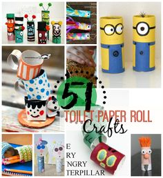 51 Toilet Paper Roll Crafts, craft, recycle, primary school, elementary school, pre-school, children, kids, knutselen, kinderen, basisschool, wc-rol, toiletpapier rol,