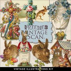 Freebies Vintage Easter Vignettes