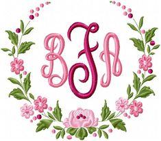 Floral Circle Border - Machine Embroidery Design