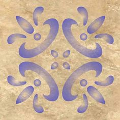 Mexican Tile Design Wall Pattern Stencil . Multiple Sizes Small to Large 0296A
