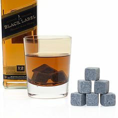These whiskey stones are perfect for enjoying your beverage with a slight chill, without watering down your spirits. Simply store them in your freezer and when needed let the stones stand for five minutes before dropping them into your drink. Stones are nonporous, so will not impart any flavors to your drink.  $21.95  #ZGallerie