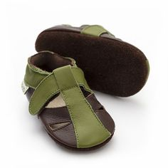 Baby Sandals, Baby Shoes, Barefoot, Leather Sandals, Soft Leather, Ankle Strap, Brown, Baby Boy Shoes, Brown Colors