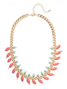 coral marquise laurel collar / baublebar