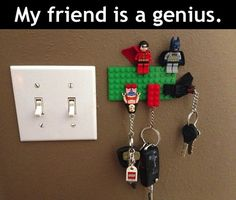 must do this...Heaven knows we have enough Legos and Lego minifigures....and minifigure key chains.....lol