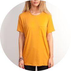 Joep+T-shirt+Okergeel+V