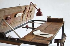 recycled can furniture ideas | Recycle Idea: Build a New Desk from Old Closet Doors - Living Green ...