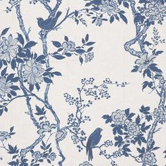 Marlowe Floral - Porcelain - Florals - Wallcovering - Products - Ralph Lauren Home - RalphLaurenHome.com