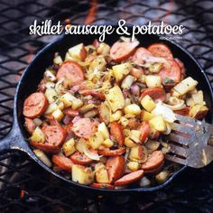 Cook this outdoor breakfast recipe over a campfire. It's a meal rich in protein and carbs and will fuel energy levels until it's time for lunch.
