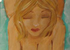Big natural blonde boobs painter