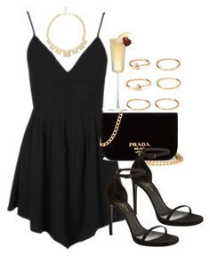 """Style #10857"" by vany-alvarado ❤ liked on Polyvore featuring Topshop, BCBGMAXAZRIA, Prada, Yves Saint Laurent and Forever 21"