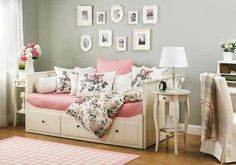 [ Bedroom Daybed Ideas Hemnes Daybed Room Ideas Ikea Daybed Room Ideas Ikea Bedroom Design Ideas Digsdigs ] - Best Free Home Design Idea & Inspiration Ikea Hemnes Daybed, Hemnes Day Bed, Ikea Malm, Ikea Bedroom, Bedroom Decor, Bedroom Furniture, Day Bed Decor, Spare Bedroom Bed Ideas, Girls Bedroom Ideas Ikea