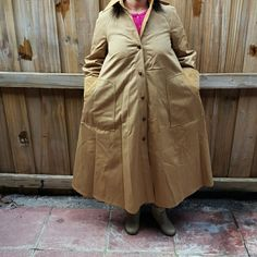 Antique coat Great for winter. Silk inside. Jackets & Coats Trench Coats