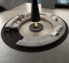 Sunken Circular Sofa