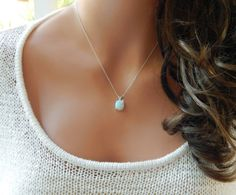 Dainty Opal Necklace for Woman, October Birthstone, Opal Bridesmaid Gift, Silver Opal Pendant, Gold Opal Jewelry Opal Jewelry, Bridal Jewelry, Jewelry Necklaces, Jewellery Box, Jewellery Shops, Glass Jewelry, Diamond Necklaces, Temple Jewellery, Diy Necklace
