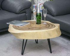 299 Euro Couchtisch Tisch Baumscheibe Suar massiv Metall Füße ca. 82 x 58 x 11 cm KST010 in Möbel & Wohnen, Möbel, Tische | eBay