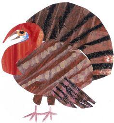 Eric Carle turkey #thanksgiving