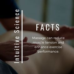 Are you dealing with muscle tension? Want to enhance your workout? Intuitive Science Holistic Massage Center can help. Massage Logo, Massage Quotes, Massage Envy, Good Massage, Face Massage, Massage Bed, Message Therapy, Holistic Massage, Remedial Massage